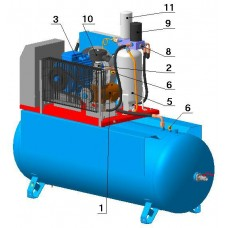 Винтовой компрессор с ременным приводом BK30-8(10/15)ДВС